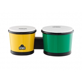 NINO PERCUSSION BONGOS ABS BICOLORE GIALLO - VERDE