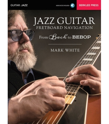 WHITE JAZZ GUITAR FRETBOARD NAVIGATION + AUDIO ACCESS