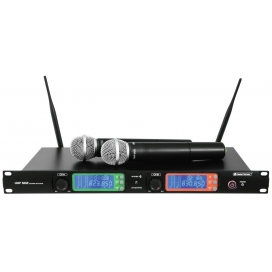 OMNITRONIC UHF-502 2 CHANNEL WIRELESS MIC SYSTEM