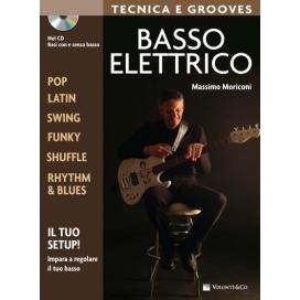 MORICONI BASSO ELETTRICO TECNICA E GROOVES + CD