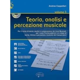 CAPPELLARI TEORIA ANALISI E PERCEZIONE MUSICALE VOL.3 + CD