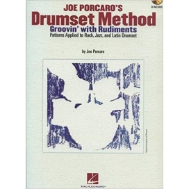 PORCARO DRUMSET METHOD + CD - GROOVIN' WITH RUDIMENTS