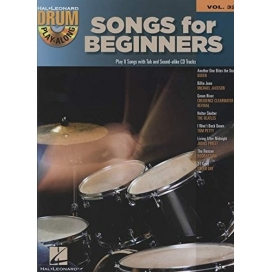 AAVV DRUM PLAY ALONG VOLUME 32 SONGS FOR BEGINNER + AUDIO ACCESS