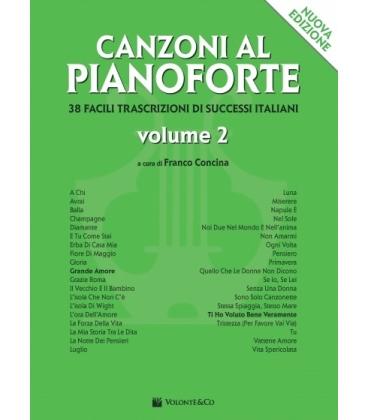 CONCINA CANZONI AL PIANOFORTE VOLUME 2 NUOVA EDIZIONE - MB401