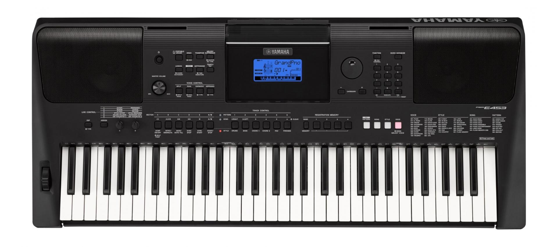 yamaha psr e453 digital keyboard 61 keys luckymusic. Black Bedroom Furniture Sets. Home Design Ideas