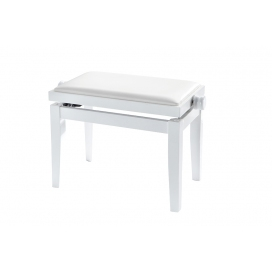 DISCACCIATI KD20-WG/2 PANCA PER PIANO BIANCO LUCIDO SEDILE SKY BIANCO