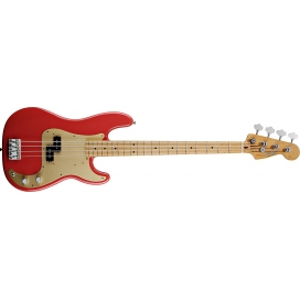 FENDER PRECISION BASS 50 CLASSIC MN FIESTA RED MEXICO