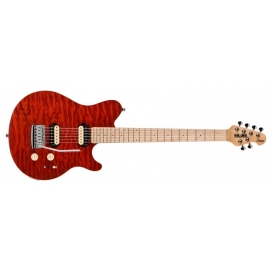 STERLING BY MUSIC MAN AX3-TRD CHIT. ELETTRICA TRASPARENT RED