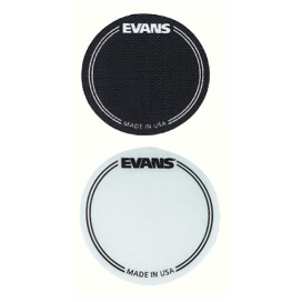 EVANS EQPC1 BEATER IMPACT PAD WHITE 2 PIECES