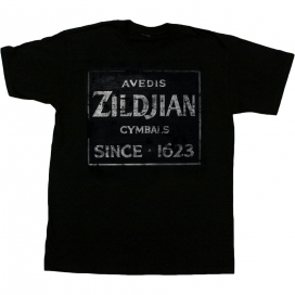 ZILDJIAN T-SHIRT QUINCY VINTAGE SIGN XL