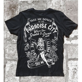 COBAIN PARADISE CITY T-SHIRT LARGE BLACK MAN