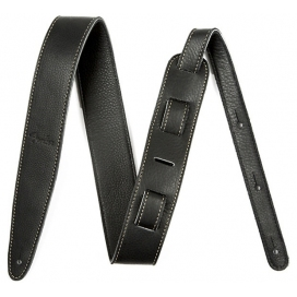 "FENDER STRAP ARTISAN CRAFTED LEATHER 2"" BLACK"