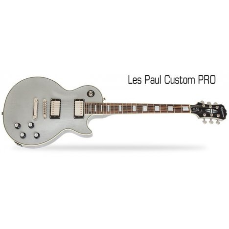 EPIPHONE LIMITED EDITION LES PAUL CUSTOM PRO TV SILVER CHITARRA ELETTRICA