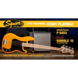 SQUIER AFFINITY PRECISION BASS PACK RUMBLE 15 AMP BTB