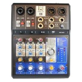 MP AUDIO MC-04X MIXER 4 CHANNEL