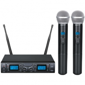 ZZIPP TXZZ620 RADIOMICROFONO DOPPIO A MANO UHF 16 CANALI