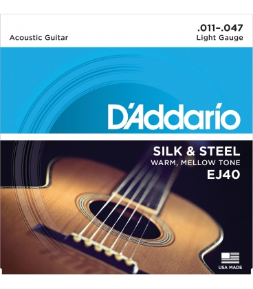 D'ADDARIO EJ40 FOLK SILK & STEEL 11/47