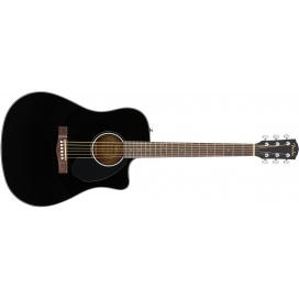 FENDER CD60SCE BLACK WN