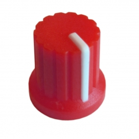 DOEPFER A-100KRD KNOB RED WITH WHITE LINE
