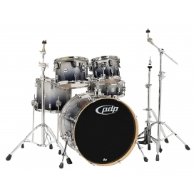 "PDP BY DW CONCEPT MAPLE SET 20"" SILVER TO BLACK SPARKLE FADED"