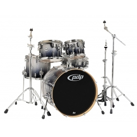 "PDP BY DW CONCEPT MAPLE SET 22"" SILVER TO BLACK SPARKLE"