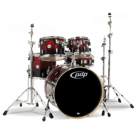 "PDP BY DW CONCEPT MAPLE SET 22"" RED TO BLACK SPARKLE FADE"
