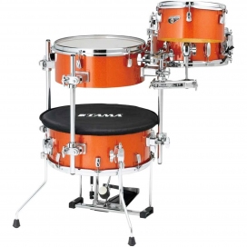 TAMA CJB46-BOS COCKTAIL JAM SHELL KIT BRIGHT ORANGE SPARKLE