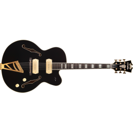 D'ANGELICO EX59 P-90 BLACK HW GOLD