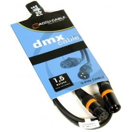 AMERICAN DJ AC-DMX3/1.5 CAVO DMX 1.5 METRI XLR 3 POLI