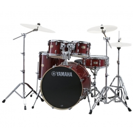 YAMAHA SBP0F5CR6W STAGE CUSTOM CRANBERRY RED + HW680