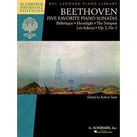 BEETHOVEN FIVE FAVORITE PIANO SONATAS
