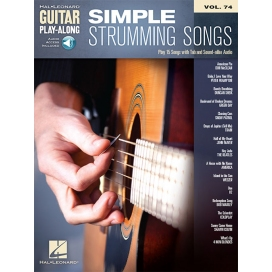 AAVV GUITAR PLAY ALONG VOLUME 74: SIMPLE STRUMMING SONGS