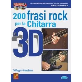 BARBATO 200 FRASI CHITARRA ROCK 3D CD+DVD ML3062