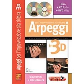 BATTISTA ARPEGGI PER IMPROVVISAZIONE CHITARRA 3D +CD +DVD ML3180