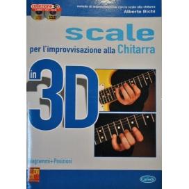 BICHI SCALE PER IMPROVVISAZIONE CHITARRA 3D +CD+DVD ML3179
