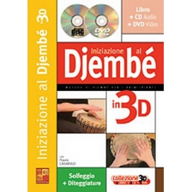 CASARIGO INIZIAZIONE DJEMBE' 3D + CD/DVD ML3306