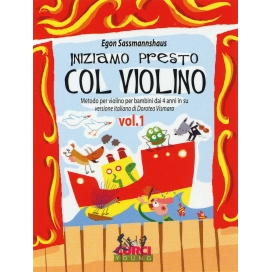 SASSMANNSHAUS INIZIAMO PRESTO COL VIOLINO VOLUME 1