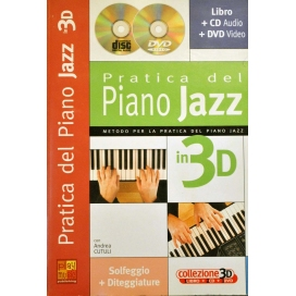 CUTULI PRATICA PIANO JAZZ 3D +CD/DVD