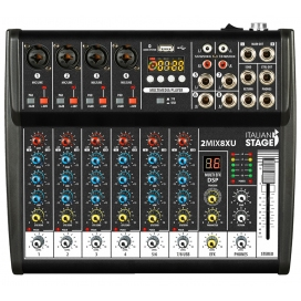 ITALIAN STAGE 2MIX84XUR MIXER 8 CH.CON BLUETOOTH