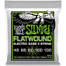 ERNIE BALL 2816 FLATWOUND EXTRA SLINKY BASS 5 STRINGS