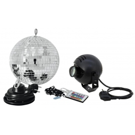 EUROLITE LED MIRROR BALL SET 20 RGB SPOT