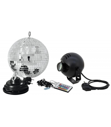 EUROLITE LED MIRROR BALL SET 20 RGB SPOT
