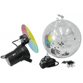 EUROLITE MIRROR BALL SET 30CM WITH PINSPOT