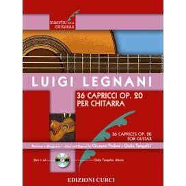 LEGNANI 36 CAPRICCI OPERA 20 PER CHITARRA + CD