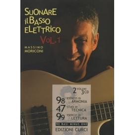 MORICONI SUONARE IL BASSO ELETTRICO VOLUME 1 +CD