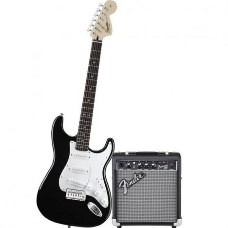 SQUIER AFFINITY STRATOCASTER PACK 10G BLACK