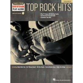 AAVV TOP ROCK HITS FOR GUITAR + AUDIO ONLINE