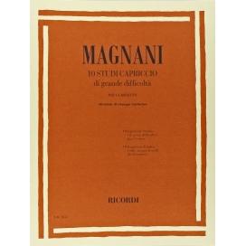 MAGNANI 10 STUDI CAPRICCIO DI GRANDE DIFFICOLTA' - CLARINETTO