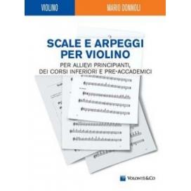 DONNOLI SCALE E ARPEGGI PER VIOLINO MB286