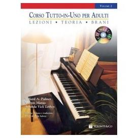 PALMER/MANUS CORSO TUTTO IN UNO PIANOFORTE PER ADULTI LIV 2